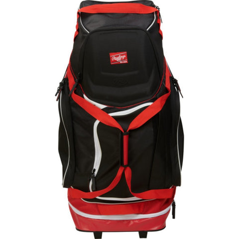 Rawlings Wheeled Equipment Bag - Scarlet
