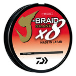 Daiwa J-Braid Grand 8X 300YDS Gray Light JBGD8U8-300GL