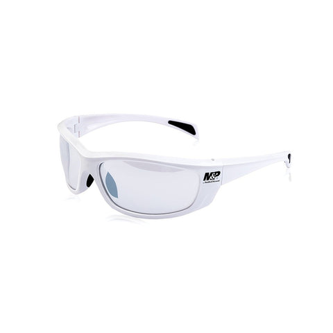 M&P Whitehawk Full Frame Shooting Glasses White/Clear