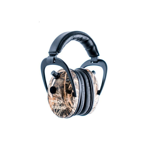 Pro Ears Predator Gold Ear Muffs RealTree Adv Max 4 Camo