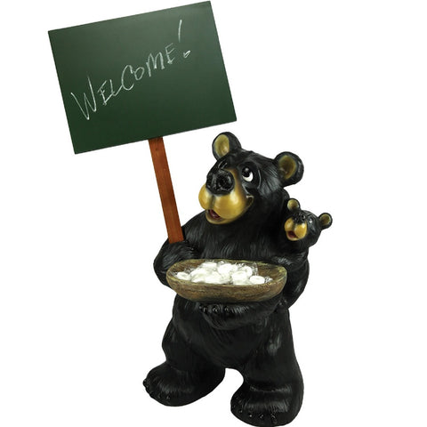 Rivers Edge Large Bear Holding Chalkboard