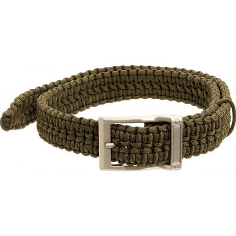 Timberline Olive Paracord Survival Belt-Extra Large