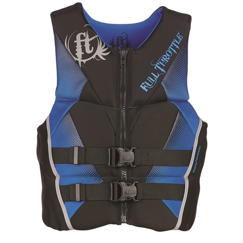Full Throttle Mens Hinged Rapid-Dry Flex-Back Vest Blue-M