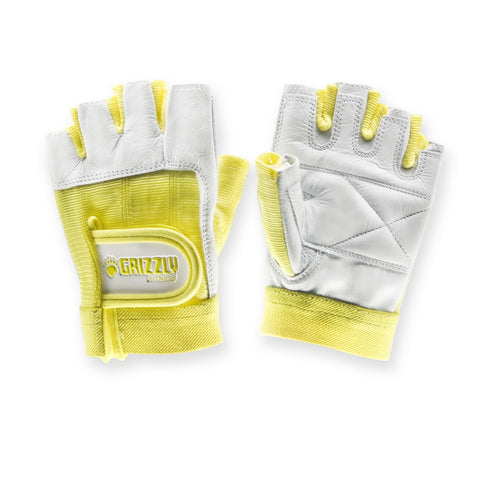Grizzly Womens Yellow Grizzly Paw Gloves - Medium