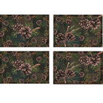 Rivers Edge 4 Piece Pinecones Placemat Set
