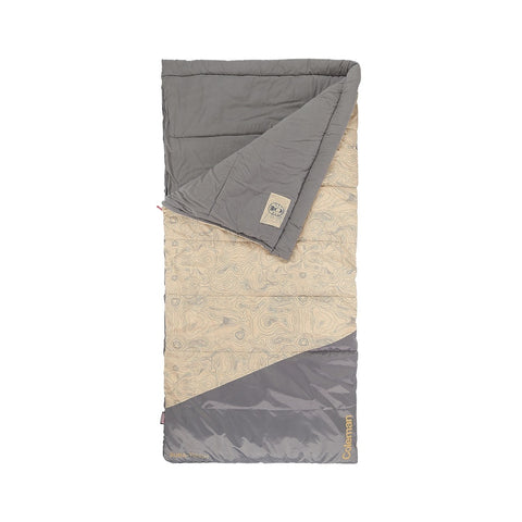 Coleman Big-N-Tall 30 Sleeping Bag Tan Fits up to 6ft 7in