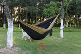 PSKOOK Double Person Camping Hammock Parachute Hammock Tent Flyknit Hammac 2 People Nylon Fabric Survival Hamak 300cm*200cm