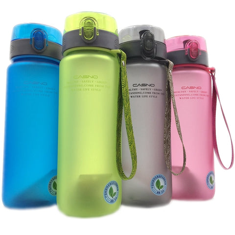 Water Bottle 18 oz/28 oz of High Quality Portable Leak-Proof Durable Drinkware Outdoor Sports Bottles BPA Free w Strap Carry