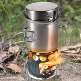 Kitchenware Set Firewood Stove with cutlery tongs blow fire tube for Outdoor Hiking Camping Picnic