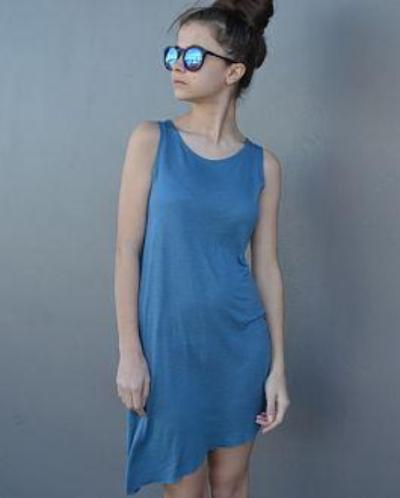 Asym Dress | Agean Blue
