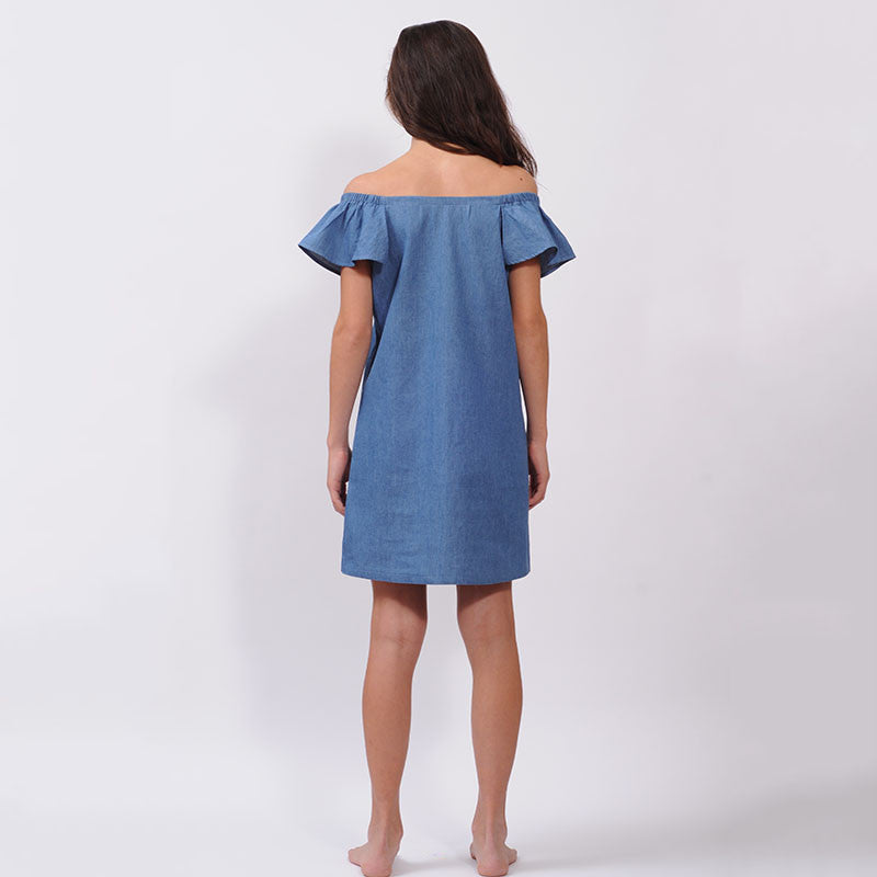 Chambray Shoulder Dress
