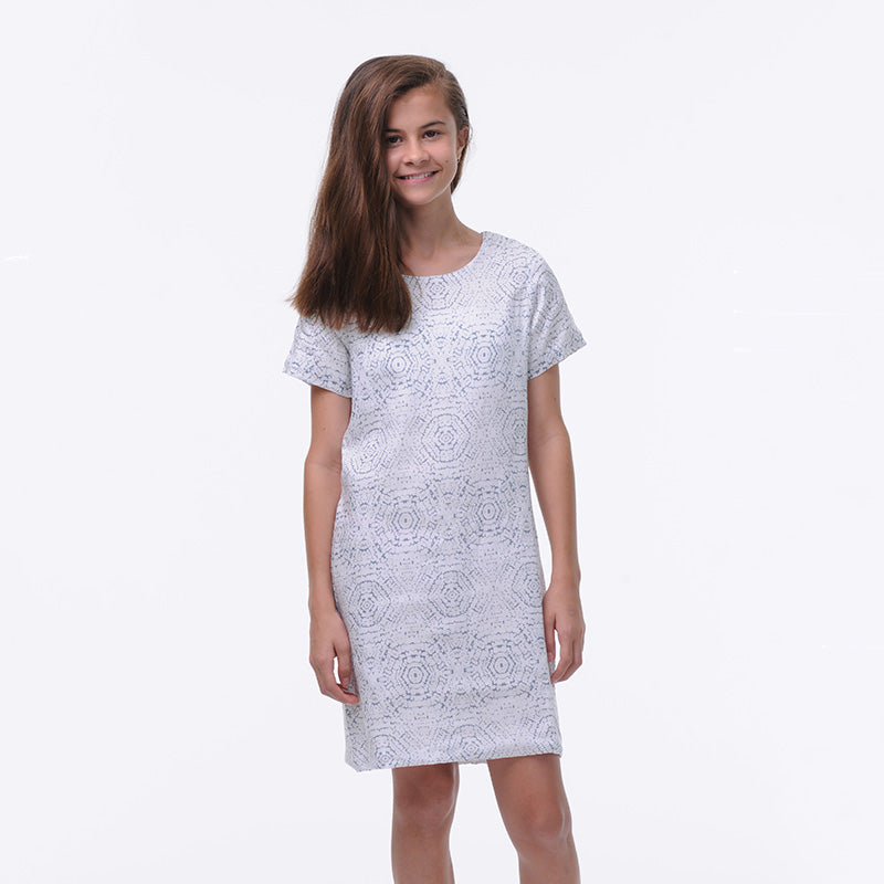blue-white-print-tee-shirt-dress-girl