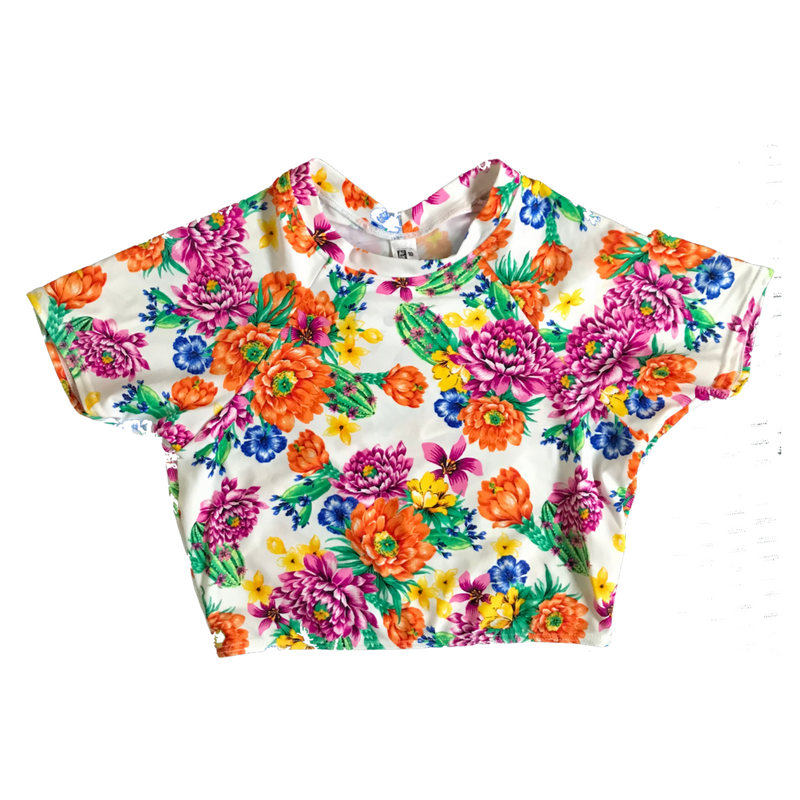 Secret Garden Crop Rash Vest