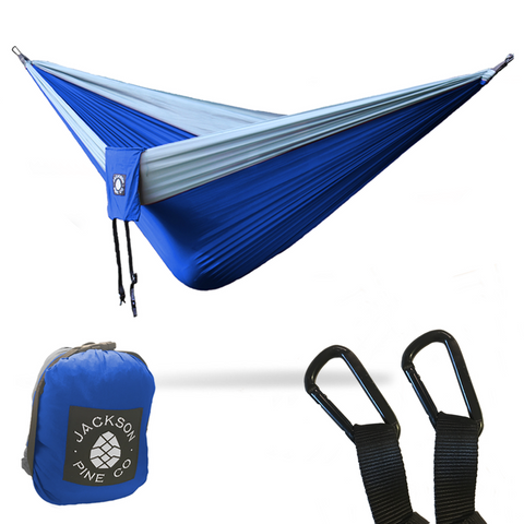 Spruce Double Hammock (Blue/Grey)