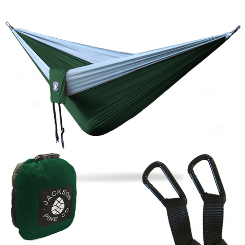Spruce Double Hammock (Dark Green/Grey)