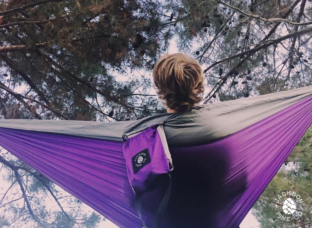 Spruce Double Hammock (Purple/Grey)