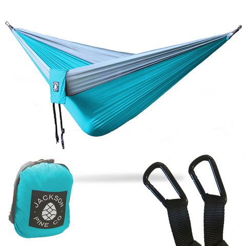 Spruce Double Hammock (Light Blue/Grey)