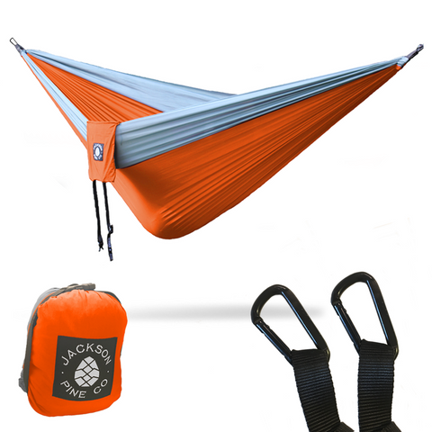 Spruce Double Hammock (Orange/Grey)