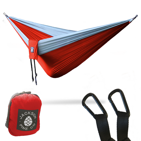 Spruce Double Hammock (Red/Grey)