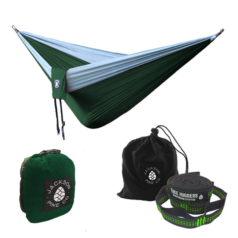 Green Spruce Hammock + Tree Huggers Bundle