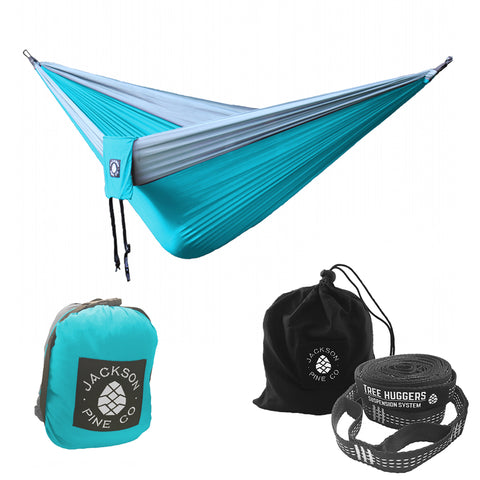 Light Blue Spruce Hammock + Tree Huggers Bundle