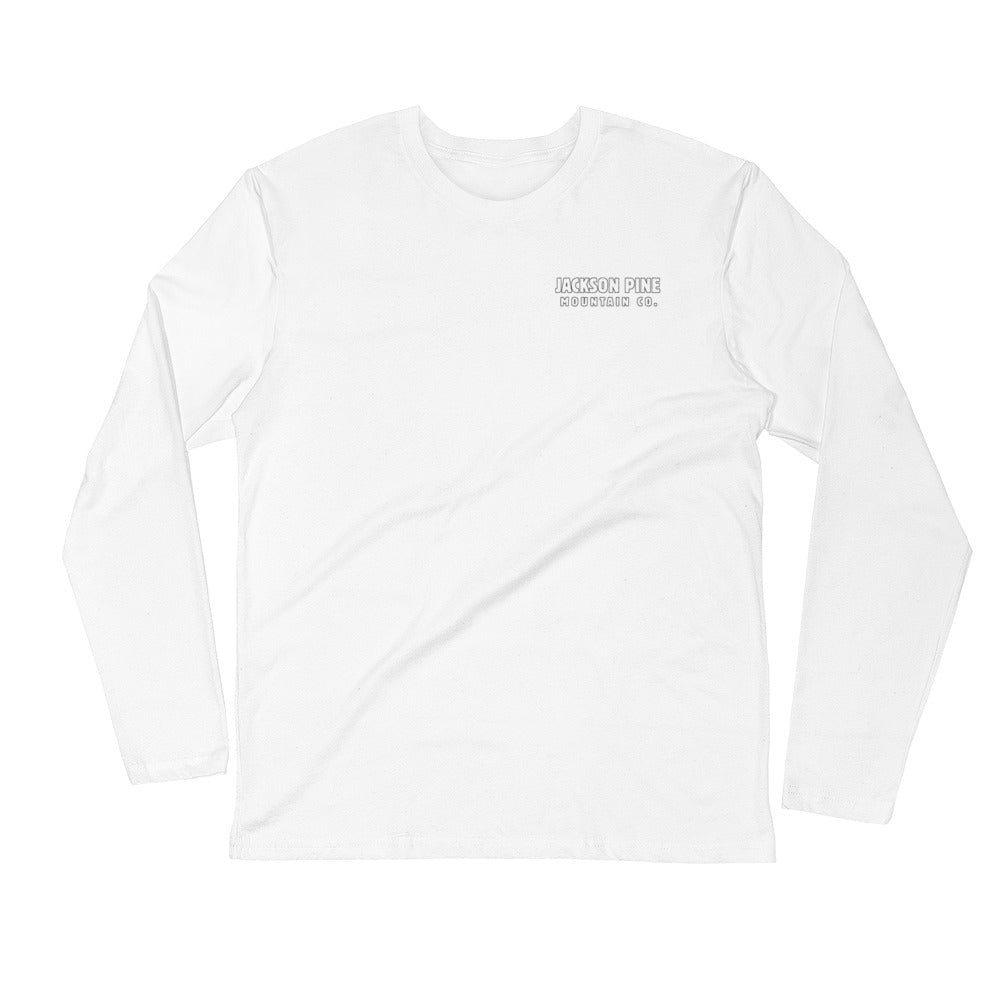 Retro Patch Long Sleeve White