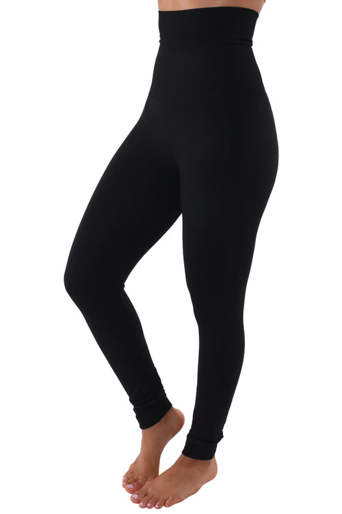 Belly Tamer Leggings (Black) Fits Up To Plus