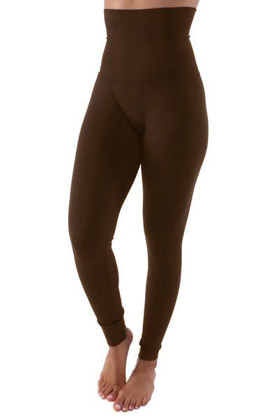 The Belly Tamer Leggings (In Chocolate) Fits Up To Plus