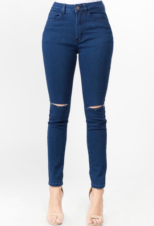 Peach Bum Jeans ( Dark Blue)