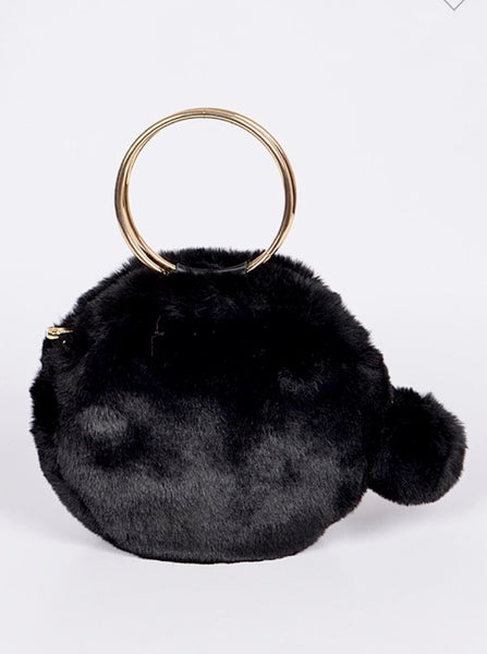 Pammy Pom Clutch (Black)