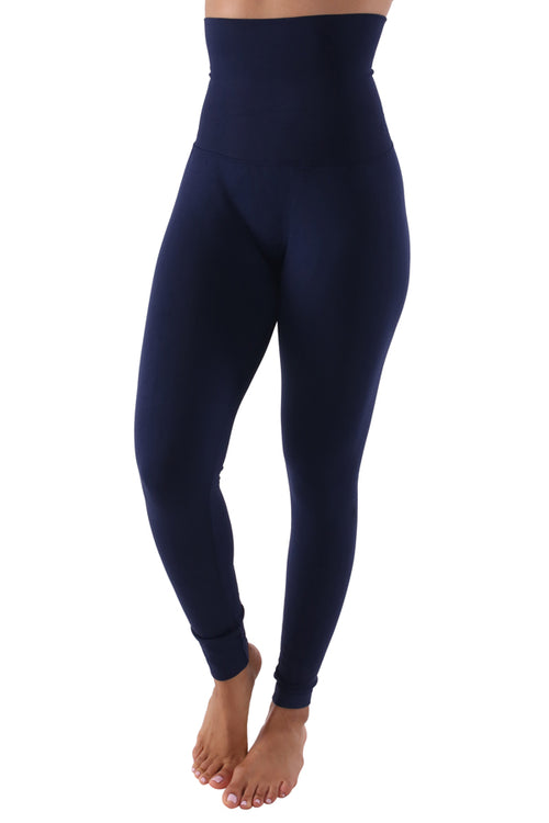The Belly Tamer Leggings (in Navy) Fits Up To Plus