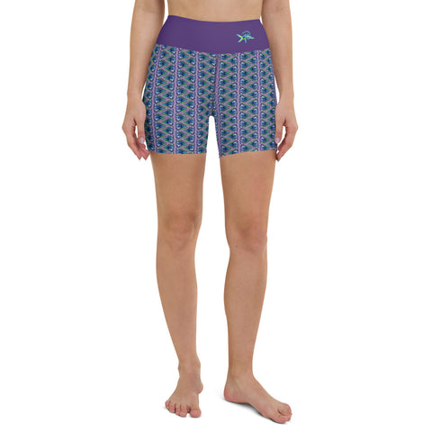 Mahi Turtle Shell Yoga Shorts