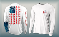 Snapper Slayer USA Flag - Women's Performance Long Sleeve