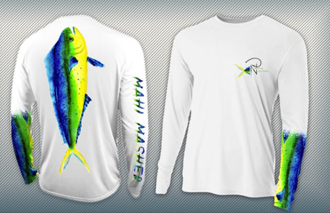 Mahi Masher MISPRINT Men's Performance Long Sleeve