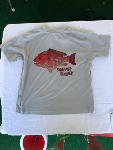 Snapper Slayer Youth Performance Short Sleeve Solar