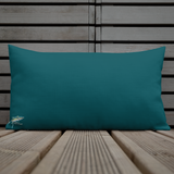 Tuna Terminator Dark Teal Gyotaku Pillow