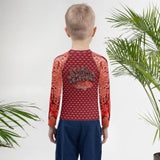 """Start Wearing Snapper"" Red Kids Rash Guard"