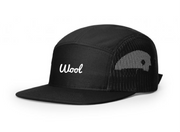 NEW 5 Panel Adjustable Mesh Strapback - Black