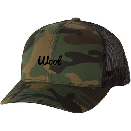"""Wool"" Camo Trucker Hat"