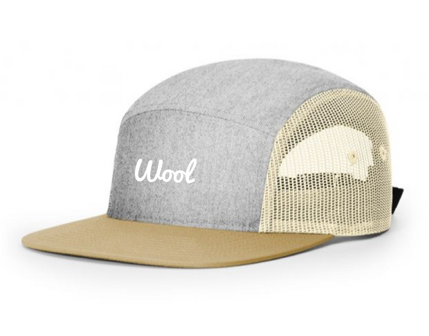 NEW 5 Panel Adjustable Mesh Strapback - Grey