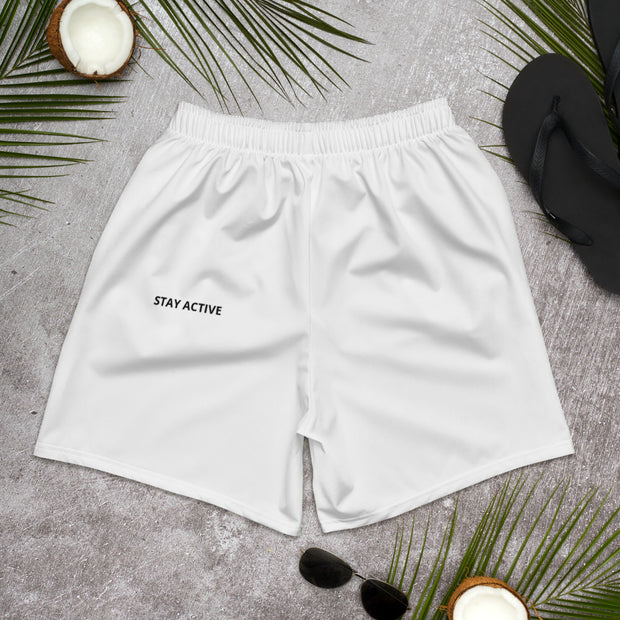 """Stay Active"" Men's Athletic Long Shorts"