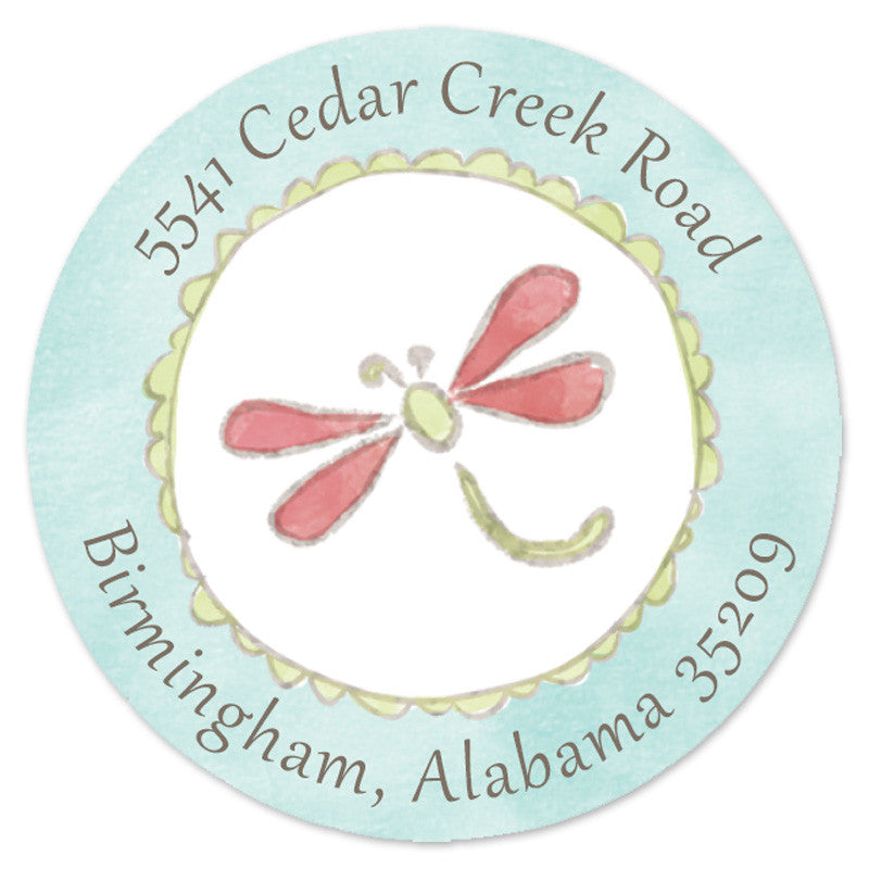 Dragonfly Label (Set of 20)
