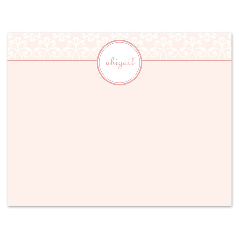 Elegant Scroll Notecard