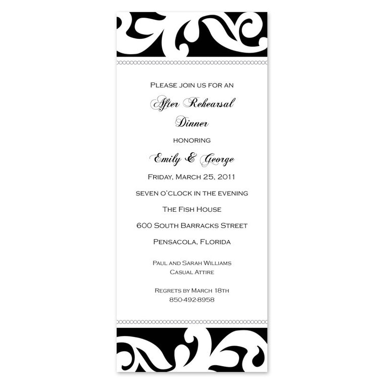 Black and White Elegant Scroll