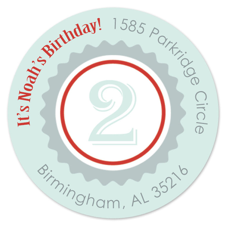 Vintage Birthday Label (Set of 20)