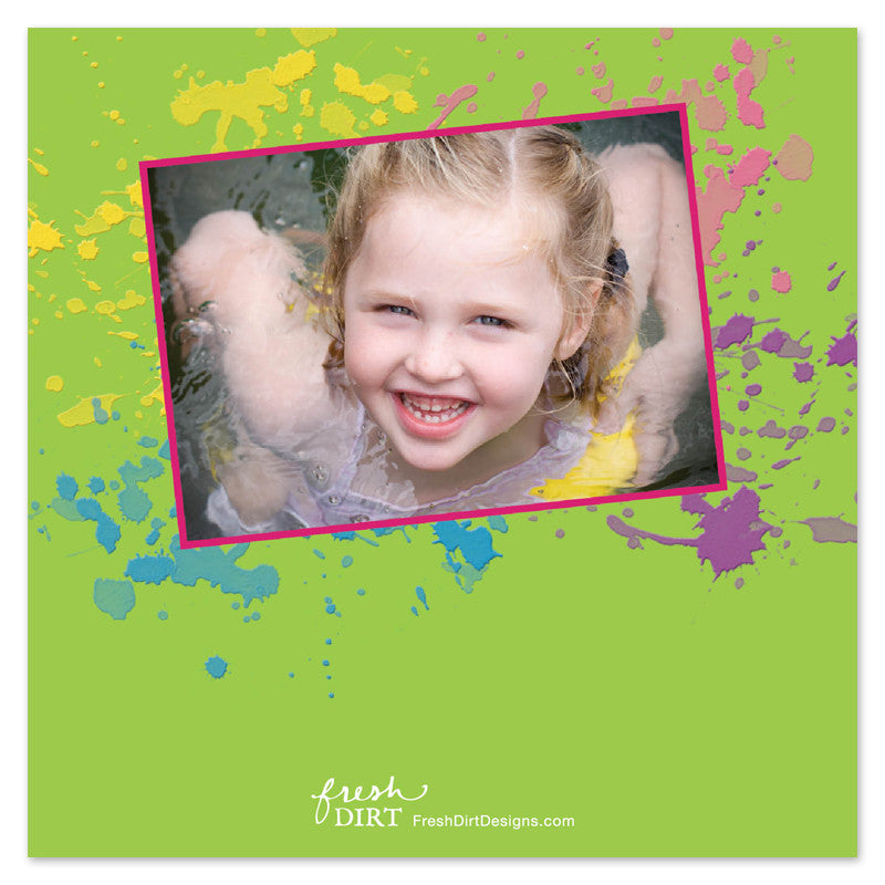 painting birthday party photo invitations