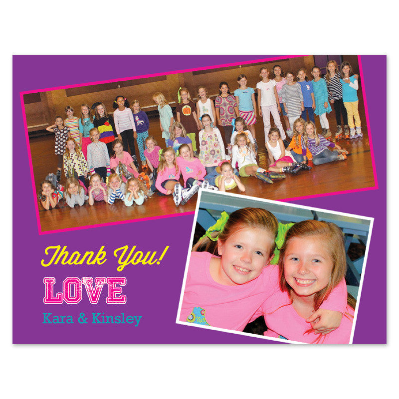 kids photo thank you cards
