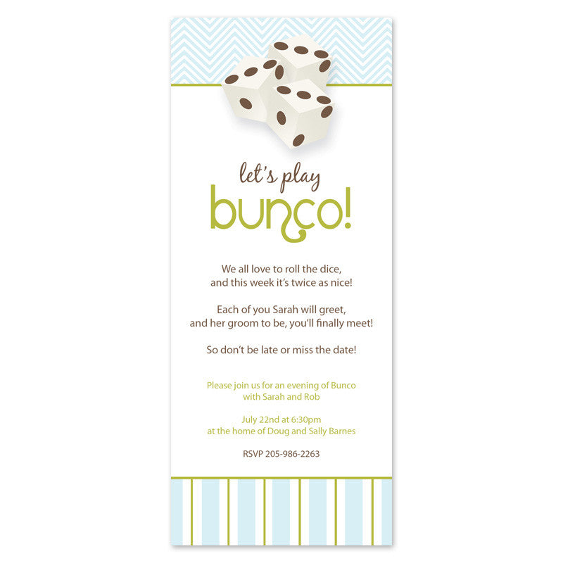 Spring Bunco Invitation