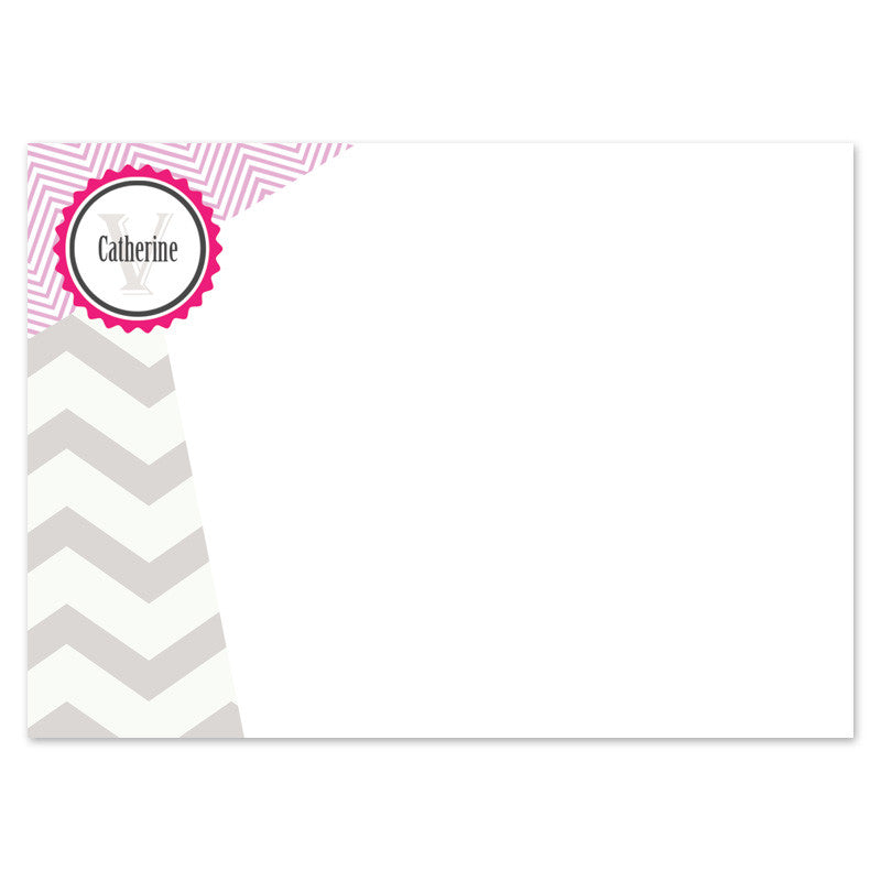 ladies flat custom note card front
