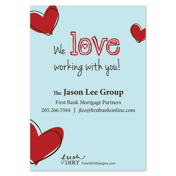 front business valentine card